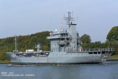 RHEIN - A513 (007-29.09.2014) (HWDKI) Tags: marine ship navy vessel rhein schiff kiel tender nordostseekanal nok deutsche kielcanal bundesmarine mmsi delfs a513 hanswilhelmdelfs 211211500