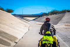 Cycling the canals in Tucson, AZ.