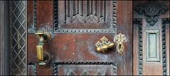 37 Jury Street, Warwick - doorway triptych (alanhitchcock49) Tags: street door wood window collage woodwork triptych panel linen mosaic january carving knocker 16 fold 37 keyhole warwick narrow castings fittings jury 2015 dwwg