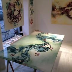 Artist Rikke Darling - abstrakte malerier (Rikke Darling) Tags: modern painting abstractart colorfull kunst fineart moderne abstrakt maleri colourfull malerier galleri abstrakte salg bioart kb kunstgalleri farverigt