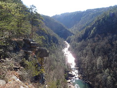 Tallulah Gorge State Park Rabun County Georgia (BenThomas1210) Tags: park county bridge trees nature water tallulah creek river georgia landscape waterfall photographer state outdoor riverbed gorge mountainside overlook rabun