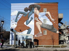 Mural in Montreal on the corner of Jarry and Papineau streets (by Julien Malland aka Seth Globepainter) (chibeba) Tags: city winter vacation urban holiday streetart canada building art wall graffiti mural montral quebec montreal january northamerica qc graffitiart 2016 citybreak sethglobepainter julienmalland