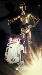 Droids (custombase) Tags: starwars r2d2 c3po 6inch blackseries revoltech