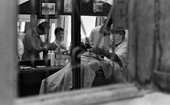 Barber shop Thailand 85mm f2 Pentax ME sm (shakmati) Tags: street travel white black film me shop thailand pentax kodak tmax 85mm mai 400 barber f2 chiang smc 135mm pentaxm