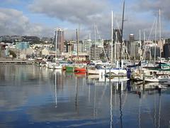 Calm morning (Karen Pincott) Tags: sea newzealand summer clouds marina reflections cloudy earlymorning sunny calm wellington yachts yachting capitalcity wellingtonharbour chaffersmarina