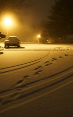 Chasing After You (j man.) Tags: life lighting friends light snow car night composition focus exposure tracks favorites footprints sparkle views comments jman flickrbronzetrophygroup chasingafteryou
