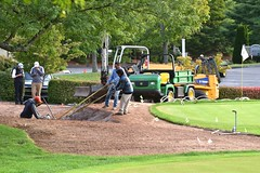 TPC River Highlands - Replacing the Practice Bunker With a New Prototype Bunker (rbglasson) Tags: nikon connecticut cromwell tpcriverhighlands d5500 nikond5500