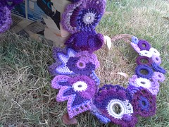 prudence (laughingpurplegoldfish) Tags: scarf purple crochet free freeform