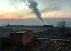 Sunrise Tip (Kingmoor Klickr) Tags: china industry sunrise mine industrial railway 1320 province colliery sy liaoning opencast fuxin