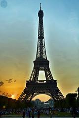 Abendstimmung - evening mood (victorlaszlo73) Tags: sunset paris france evening abend frankreich sonnenuntergang latoureiffel eiffelturm