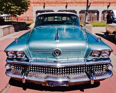 1958 Buick Roadmaster (hz536n/George Thomas) Tags: summer buick lab michigan august canon5d flint hdr smrgsbord roadmaster photomatix labcolor ef1740mmf4lusm 2013 cs5 backtothebricks smrgsbord topazadjust