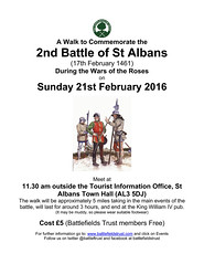 The Battlefields Trust walk to commemorate the 2nd Battle of St Albans (17th February 1461) on Sunday 21st February 2016 (greentool2002) Tags: charity roses public st office walk events sunday 21st battle tourist 2nd event trust registered wars february today information albans 17th the herfordshire battlefields 2016 commemorate 1461