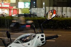 (Yorozuna / ) Tags: reflection bike japan night tokyo mirror shinjuku  sidemirror nightview          shinjukuward   pentaxautotakumar55mmf18