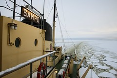 Trail of crushed ice (Curt) Tags: winter finland icebreaker sampo kemi