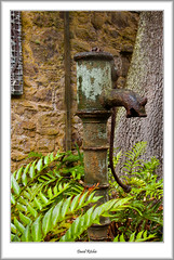 Old Water Pump (flatfoot471) Tags: summer england sculpture holiday cornwall unitedkingdom normal tresco islesofscilly abbeygardens 2015