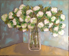 Vase of Hydranges (Art by Trish Jones (theOldPostRoad)) Tags: life road old flowers original white flower art floral by painting jones still post trish vase bouquet hydrangeas