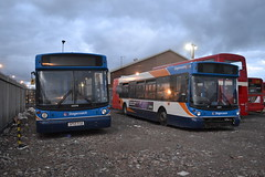 Stagecoach Fife 22370 SP55EGD & 22371 SP55EGE (Will Swain) Tags: county uk travel england bus english buses yard march scotland fife britain garage country north transport shed 4th scottish east vehicles vehicle depot stagecoach 2016 22370 22371 aberhill sp55ege sp55egd