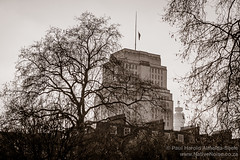 Senate House Library & The BT Tower, London