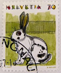 great stamp Helvetia 70c (rabbit, Hase, konijn, Kaninchen, nyl, , bunny, , , livre, lapin, , coelho, conejo, krlik, liebre, lepre, coniglio) Swiss postage Switzerland timbre-poste Suisse francobolli bollo Svizzera selo Sua sellos Suiz (stampolina) Tags: rabbit bunny postes schweiz switzerland suisse konijn stamps swiss conejo stamp porto helvetia coelho timbre  postage lapin franco hase kaninchen bolli coniglio sellos  briefmarken markas krlik livre selos timbres liebre francobolli lepre nyl znaczki frimerker  pullar timbru  antspaudai znamk