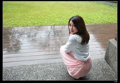 nEO_IMG_IMG_0594 (c0466art) Tags: flowers portrait motion tree beautiful smile rain female canon pose asia pretty day sweet outdoor gorgeous taiwan showgirl sakura charming elegant 1dx c0466art
