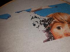 Outline of Svens Eye (diedintragedy) Tags: art frozen crossstitch sewing craft disney stitching sven stiches kristoff frozencrossstitch crossstitchproject crossstitchprogress