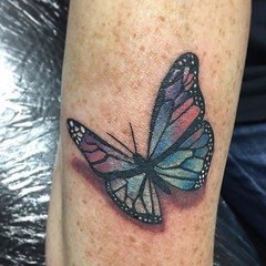 butterfly tattoo by Wes Fortier at Burning Hearts Tattoo Co. - Waterbury, CT