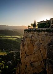 Sunset in Ronda (Tigra K) Tags: travel light sunset mountain plant tree rock landscape town andaluca spain village ronda es 2015