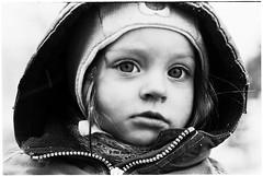 Miglė (batuda) Tags: winter bw film wet girl closeup contrast child olympus d76 om ilford 5014 pan400 miglė dumsiai