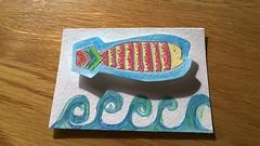 ATC Fishie Zentangle (yarninaround) Tags: fish artist card trading atcs zentangle