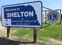 Welcome to Shelton Sign (Shelton, Nebraska) (courthouselover) Tags: nebraska ne shelton lionsclub lincolnhighway buffalocounty mormontrail citywelcomesigns