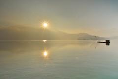 日月潭~晨曦~ Sun moon lake sunrise (Shang-fu Dai) Tags: 台灣 taiwan 日月潭 南投 魚池 nikon d800 sunmoonlake sunrise 日出 af20mmf28d sky 雲彩 landscape formosa dawn 戶外 倒影 elitegalleryaoi bestcapturesaoi