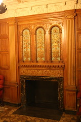 Loews Jersey City, men's smoking room (ktmqi) Tags: design newjersey fireplace jerseycity interior plaster tudor restoration baroque mantel mensroom journalsquare decorativearts moviepalace hudsoncounty smokingroom rapprapp loewsjerseycity linenfoldpaneling