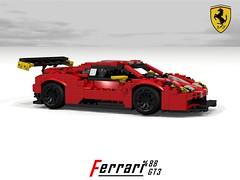 Ferrari 488 GT3 Racer (lego911) Tags: auto car model lego render ferrari racing coupe v8 vicious cad racer maranello gtb povray gt3 moc rumours berlinetta 2016 ldd gte 488 miniland 2010s lego911