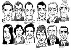 Dozen noodles (Don Moyer) Tags: moleskine face ink notebook grid faces drawing moyer brushpen donmoyer