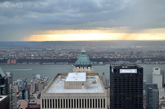 TOTR Sun (VAO7) Tags: city newyork skyline manhattan panoramic rockefeller