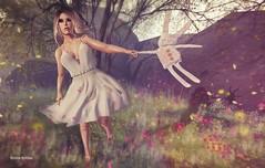 Cheap Thrills.. (Sistine Kristan (Sisely) - Toolbox Chicks) Tags: flowers people bunny pose spring mesh sl secondlife zenith maitreya magika secretbody