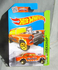 Hot Wheels HW WORKSHOP '55 Chevy Bel Air Gasser 2013 : Diorama Bonneville Salt Flats - 1 Of 13 (Kelvin64) Tags: hot air wheels salt flats chevy workshop 55 bel bonneville diorama gasser hw 2013