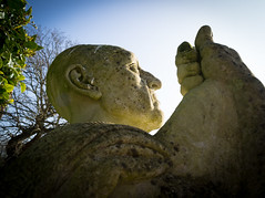 Quarr statue 2 (S's images) Tags: blue sky green abbey statue stone isle wight ryde quarr