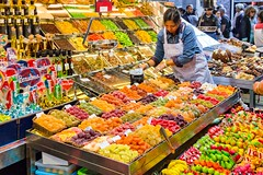 Colourful Barcelona (Luca Quadrio) Tags: barcelona travel fruits shop fruit spring spain europe colours candy market landmark catalonia marketplace catalunya colourful es candies boqueria spagna ramblas