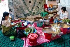Burmese women making Buddhist flower garlands, Mandalay, Myanmar (JJ Doro - Bangkok) Tags: flowers asian scenery asia seasia buddhist garland tropical laos luangprabang garlands mandalaymyanmarburmamahamyatmunipagoda