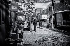 Ave. of the Americas (steff808) Tags: street blackandwhite bw usa newyork blancoynegro mono us calle unitedstates noiretblanc manhattan sony rue biancoenero estadosunidos eeuu avenueoftheamericas tatsunis sony1855 sonynexf3