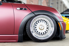Mini Cooper S (CamG_Photography) Tags: red black chattanooga wheel riverside maroon tire mini s cooper bmw rim bbs carshow burgandy springshow