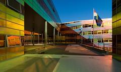 _DSC2236 (durr-architect) Tags: light sun colour reflection netherlands glass architecture modern facade offices almere dfense berkel unstudio