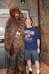 Chewbacca and I at Disneyland (GMLSKIS) Tags: california starwars disney amusementpark anaheim dca chewbacca