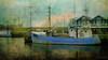 stop waiting (silviaON) Tags: denmark ship harbour outdoor textured flypaper hvidesande kerstinfrankart