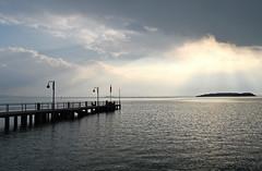 Lago Trasimeno (Fabrizio Iannaccone) Tags: light people italy sun lake water clouds lago island boat nikon nuvole sole luce umbria trasimeno riflesso pontile d5500