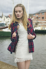 Threshold Apprehension (Swebbatron) Tags: portrait girl beautiful fashion canon 50mm model dress devon exeter blonde radlab exeterquay portraitshoot 1100d emilyflorence gettotallyrad