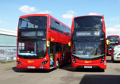GAL MHV9 BU16OYS - EH50 YX16OCF - BV BELVEDERE BUS GARAGE - THUR 28TH APR 2016 (Bexleybus) Tags: new bus london buses ahead volvo garage go 400 egyptian belvedere dennis hybrid mmc bv enviro etb adl mcv goahead eh50 evoseti yx16ocf mhv9 bu16oys