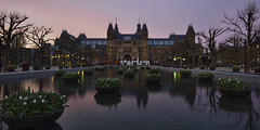 I amsterdam (Lee Sie) Tags: sunset sky holland reflection water netherlands dutch amsterdam clouds europe tulips cloudy rijksmuseum partly