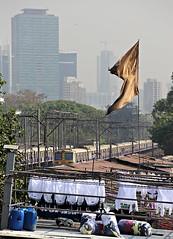 Dhobi Ghat Laundry (goremirebob) Tags: india trains laundry mumbai railways dhobighat westernrailway